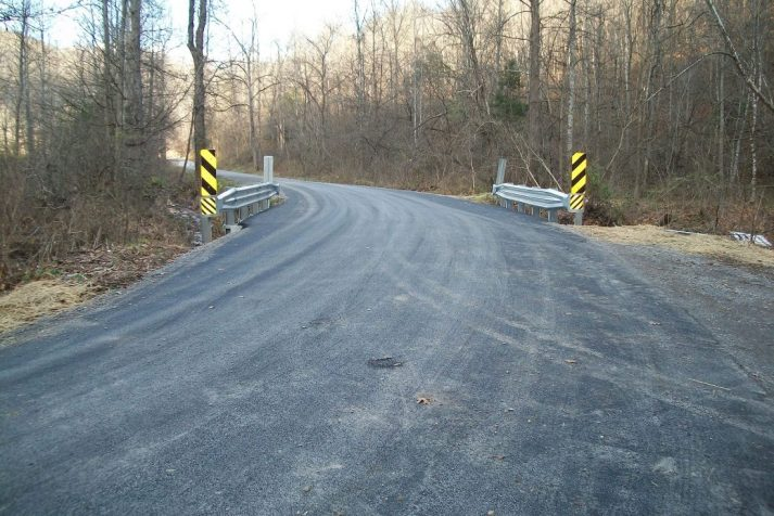 Construction company showing completed bridge project in Hiltons, Virginia