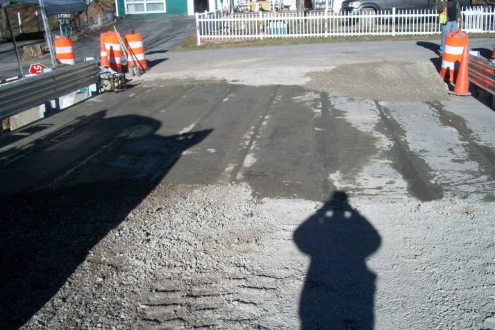 Almost completed bridge awaiting paving by Estes Brothers Construction company in the Bristol region