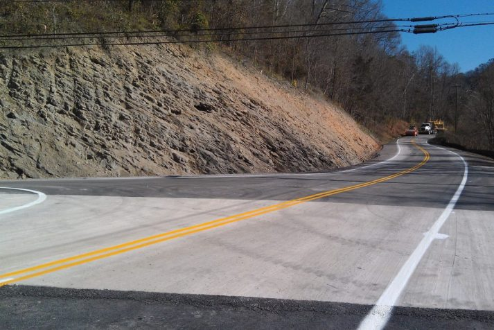 Construction company fixing to work on a bridge in the Hiltons, VA area