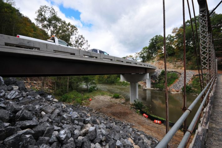 Construction company completed bridge built on Tr. 652 in Puckett's Hole across the Clinch River